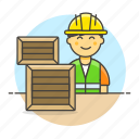 package, service, half, logistic, management, warehouse, worker, inventory, male