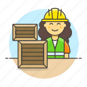 service, inventory, female, package, half, management, warehouse, worker, logistic
