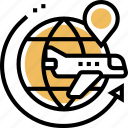 worldwide, shipping, international, delivery, airmail icon