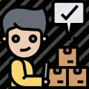 checklist, delivery, parcel, approve, confirm