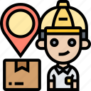 delivery, postman, service, destination, address