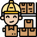 warehouse, worker, stock, delivery, package