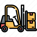delivery, forklift, logistic, package, parcel, service, shipping