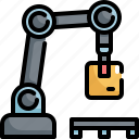 industry, logistic, machine, manufacturing, package, parcel, robot icon