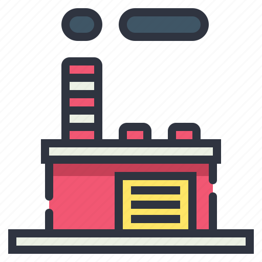 building, factory, industry, production icon