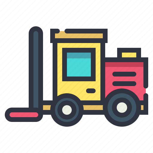 fork, lif, lift, machine, vehicle icon