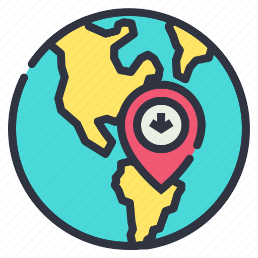 globe, location, map, online icon