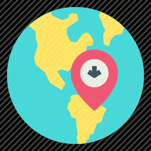 globe, location, map, online icon