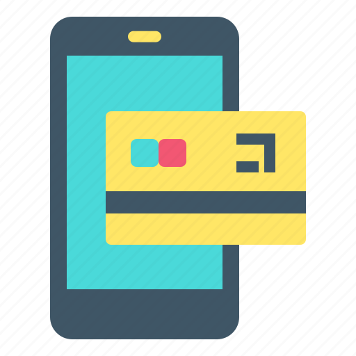 card, credit, online, payment, phone icon