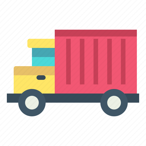 box, delivery, truck, vehicle icon