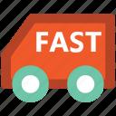 delivery car, delivery van, hatchback, pick up van, van, vehicle