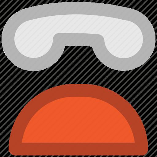 call, landline phone, make a call, retro telephone, ringing, telecommunication, telephone set icon