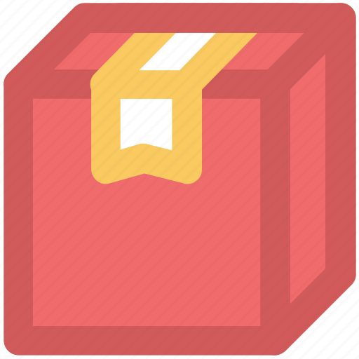 cardboard box, courier box, delivery box, fragile, package, parcel, sealed box icon