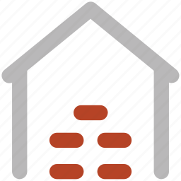 building, commercial building, factory, storage garage, storage unit, storehouse, warehouse exterior icon