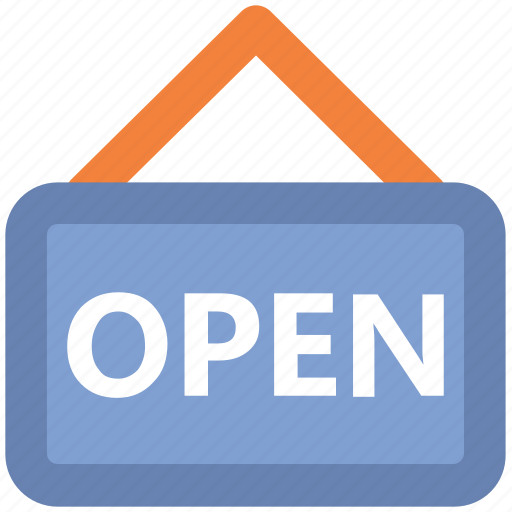 hanging sign, information, office, open sign, service, shop sign, store icon