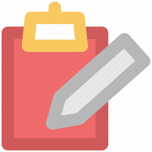 blank sheet, catalogue, clipboard, index, pen, register, schedule icon