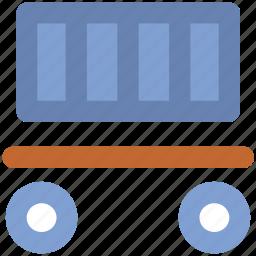 cargo train, freight train, locomotive, railway transport, railway wagon, shipment, shipping icon