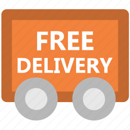 cargo, delivery service, delivery van, delivery vehicle, free delivery, freight, transportation icon