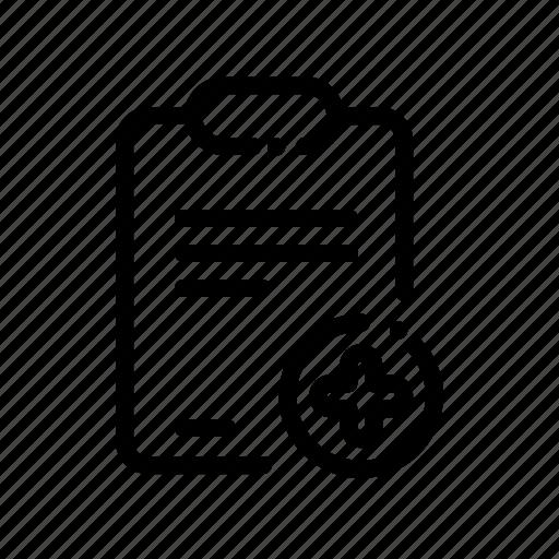 add, clipboard, create, document, new icon
