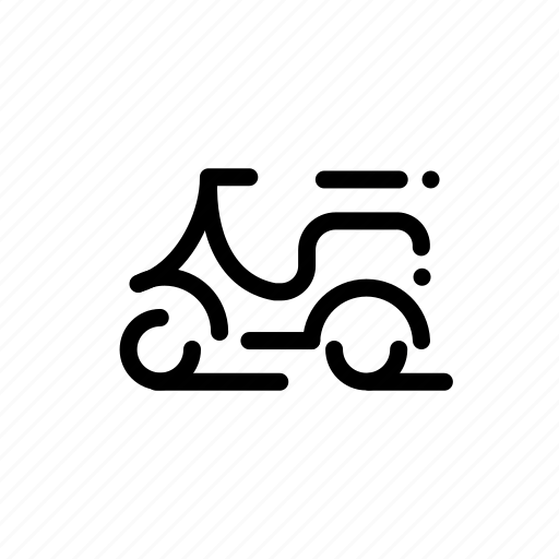 bike, motorbike, motorcycle, transport, vespa icon