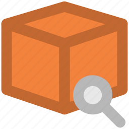 delivery package, delivery service, infographic element, magnifying, package search, parcel tracing, shipment icon