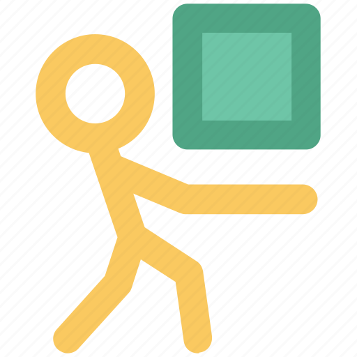 courier, delivery, delivery man, shipping, storekeeper, warehouse, workman icon