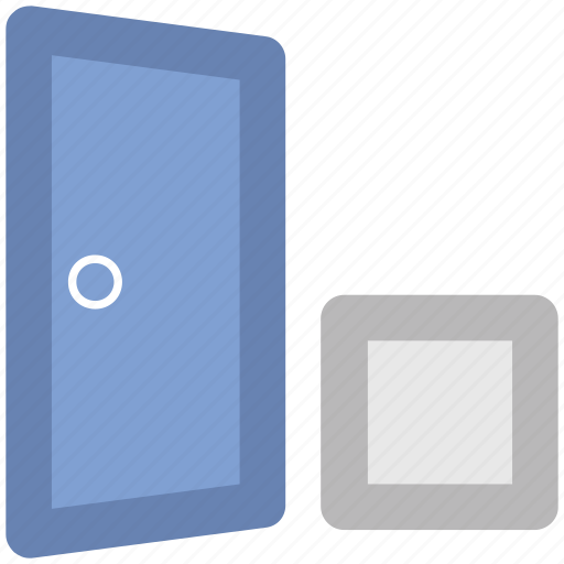 carton box, delivery, doorstep, freight, home delivery, house entryway, shipping icon