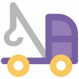 crane, lifter, luggage lifter, machine, tow truck, transport, vehicle icon