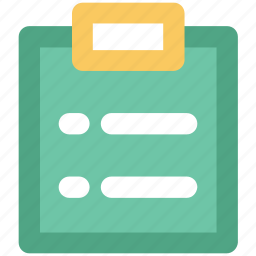 agreement, bulleted list, catalog, clipboard, contract, document, questionnaire icon