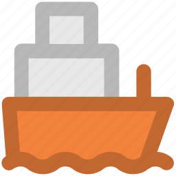 cargo ship, luxury cruise, sailing vessel, ship, shipment, shipping, travel icon