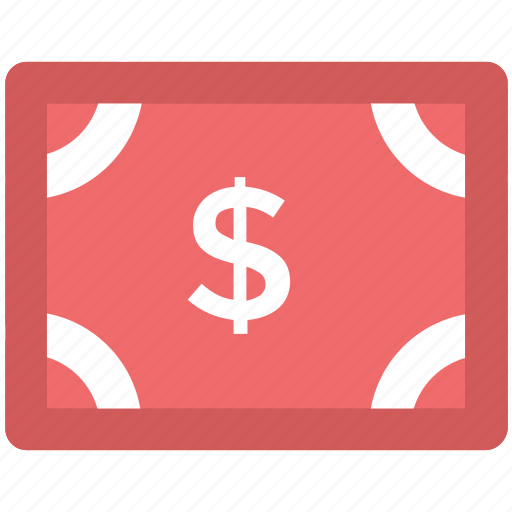 banknote, bill, currency, currency note, dollar, money, paper note icon