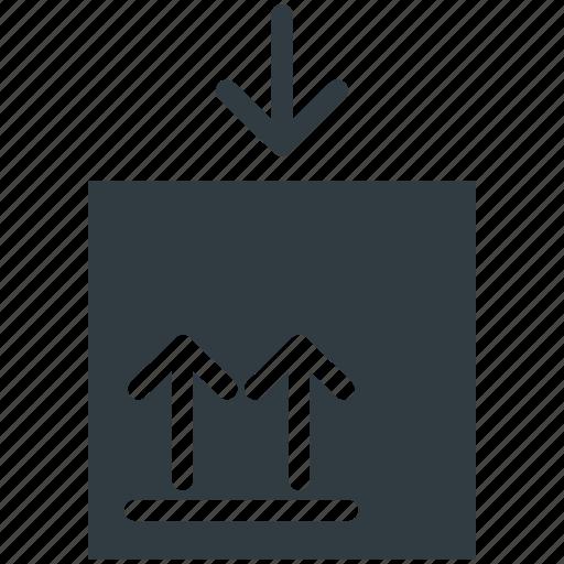 cargo, fragile sign, packaging, parcel, postmark icon