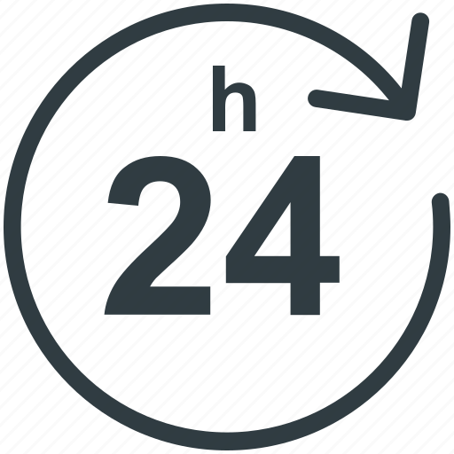 Customer service, customer support, helpline, logistic delivery, twenty four hours icon - Download on Iconfinder