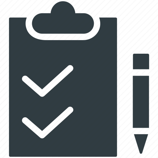 checklist, clipboard, document, pen, questionnaire icon