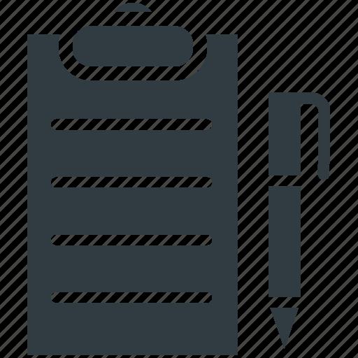 clipboard edit pen task text sheet icon