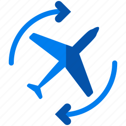 aeroplane, airplane, arrows, delivery, logistic, overnight icon