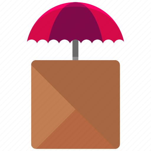 airdrop, box, delivery, logistic, package, parachute, umbrella icon