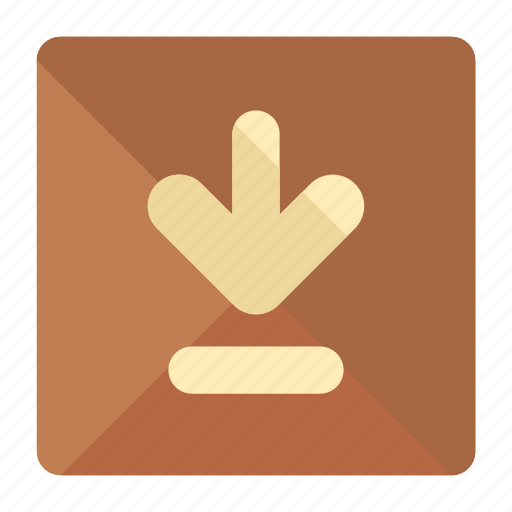 arrow, box, delivery, down, logistic, package icon