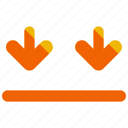 arrow, arrows, delivery, direction, down, logistic icon