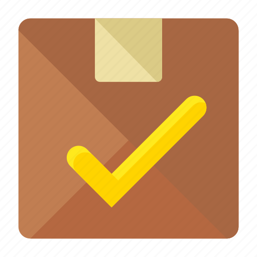 box, confirm, crate, delivery, logistic, package, shipment icon