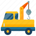 crane, delivery, logistic, transport, transportation, truck, vehicle icon