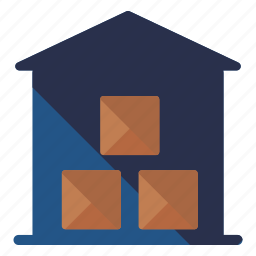 box, delivery, house, logistic, package, storage, warehouse icon