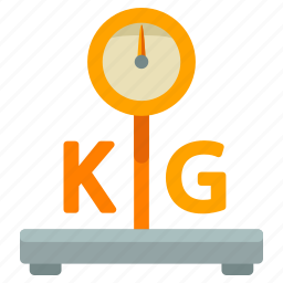 delivery, kilo, kilogram, logistic, scale, weight icon