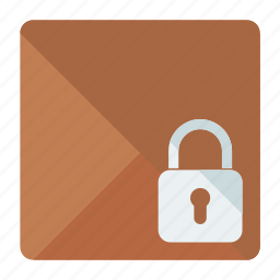 box, delivery, locked, logistic, package, security icon