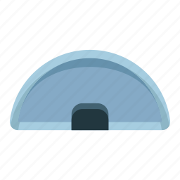 delivery, half circle, logistic, tool icon