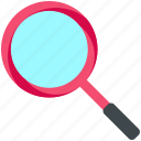 delivery, find, logistic, magnifier, search icon