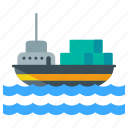 delivery, logistic, marine, nautical, ship, shipment icon