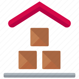delivery, house, logistic, package, storage, warehouse icon