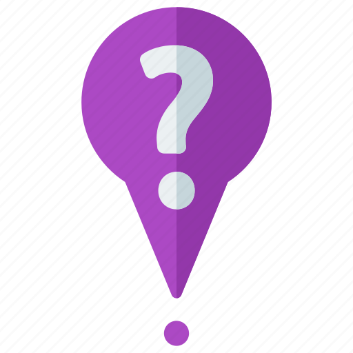 delivery, logistic, mark, marker, pointer, question icon