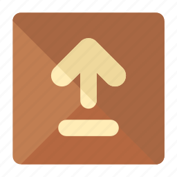 arrow, box, delivery, package, right, side, up icon